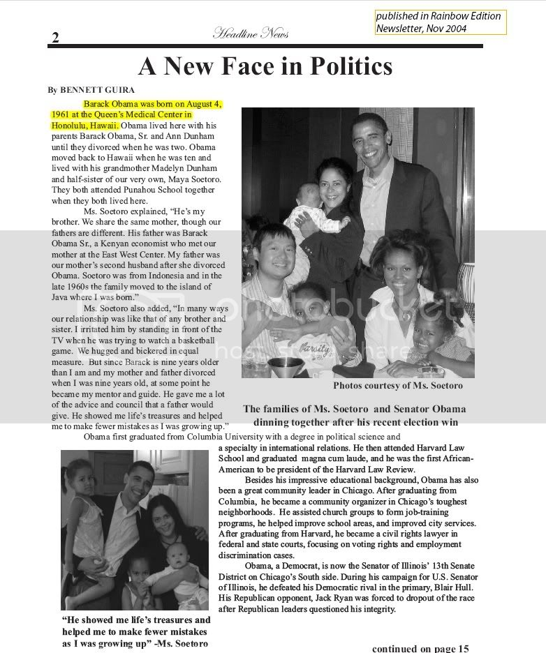 Rainbow Edition News Letter, November 2004 Edition